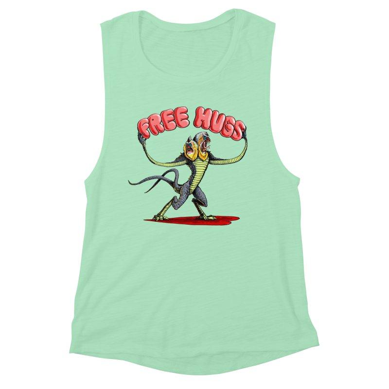 Free Hugs Demogorgon Women's Muscle Tank by Joe Abboreno's Artist Shop