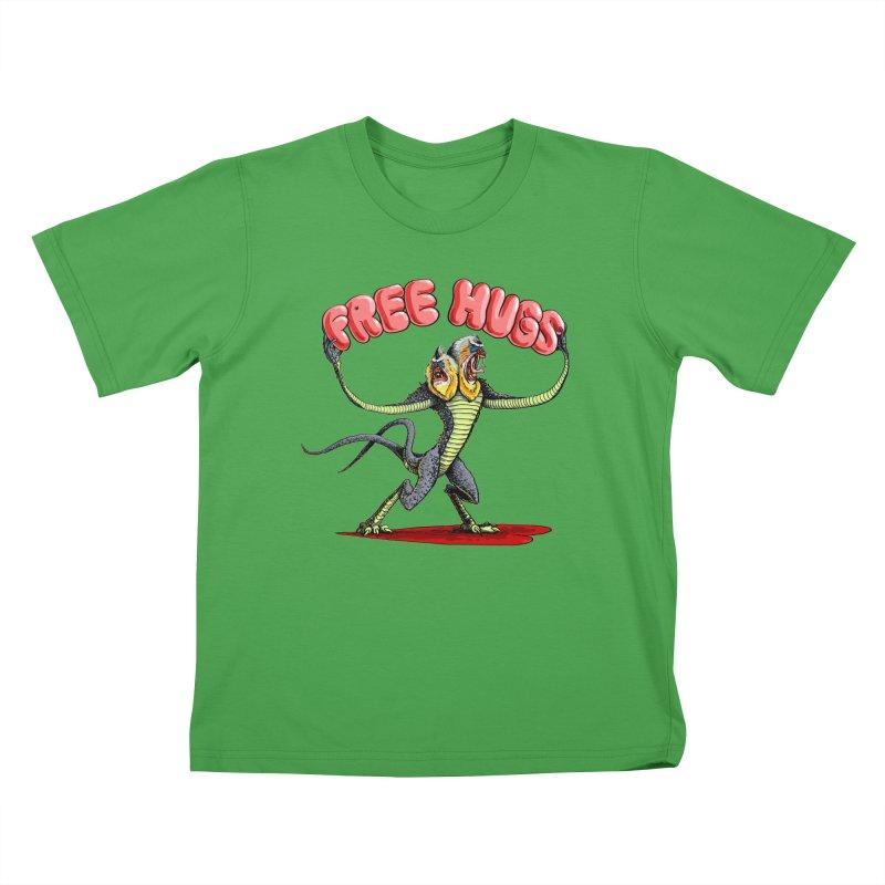 Free Hugs Demogorgon Kids T-Shirt by Joe Abboreno's Artist Shop