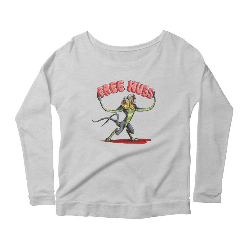 Free Hugs Demogorgon Women's Scoop Neck Longsleeve T-Shirt by Joe Abboreno's Artist Shop