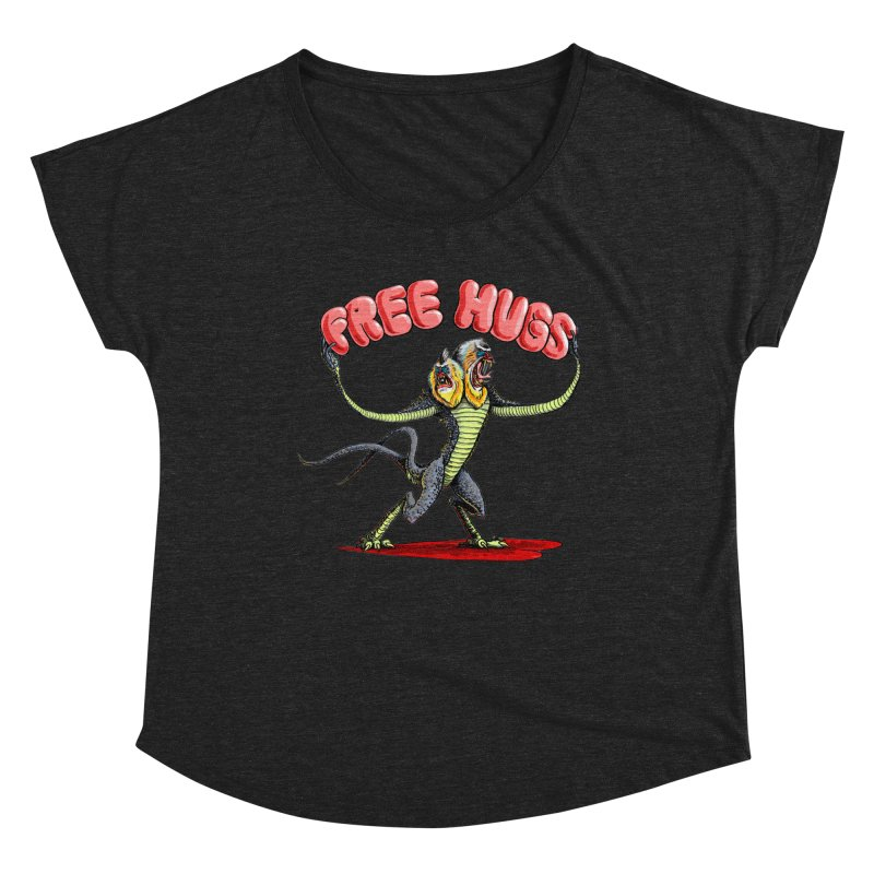 Free Hugs Demogorgon Women's Dolman Scoop Neck by Joe Abboreno's Artist Shop