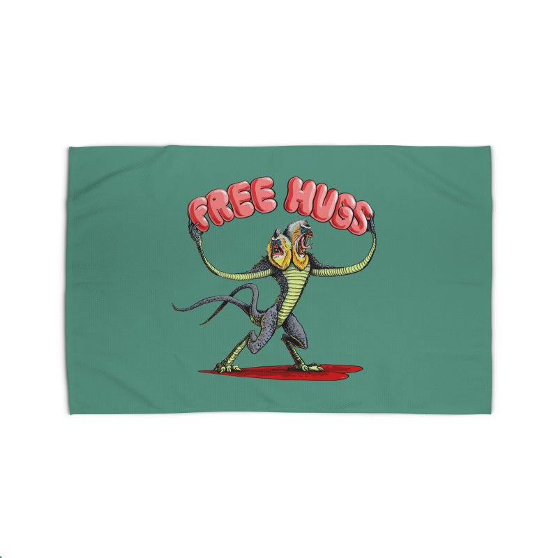 Free Hugs Demogorgon Home Rug by Joe Abboreno's Artist Shop