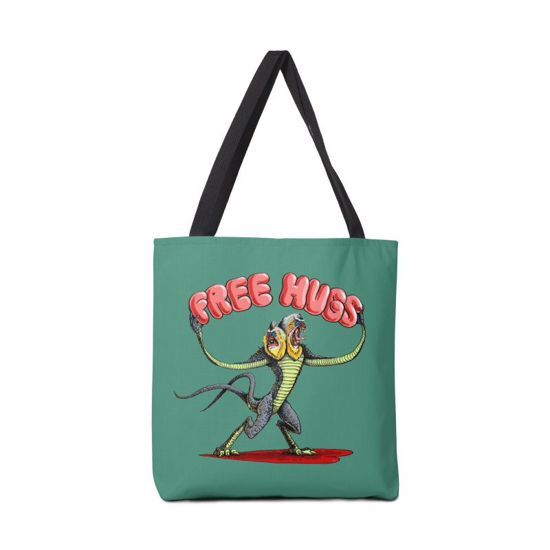 Free Hugs Demogorgon Accessories Tote Bag Bag by Joe Abboreno's Artist Shop