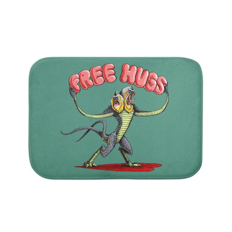 Free Hugs Demogorgon Home Bath Mat by Joe Abboreno's Artist Shop