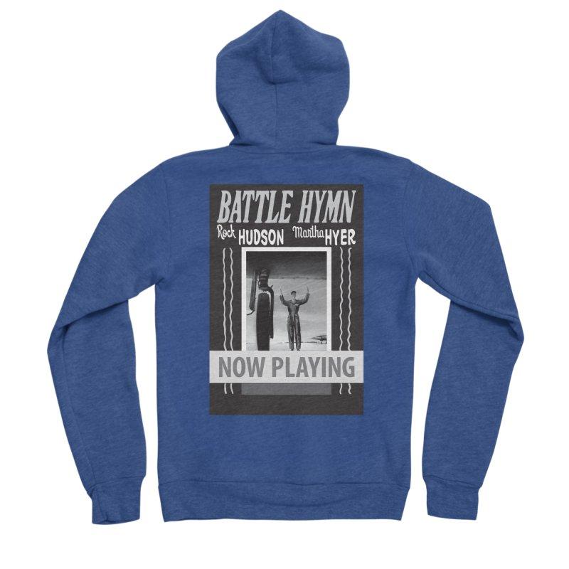Battle Hymn Poster Replica Design Women's Sponge Fleece Zip-Up Hoody by Joe Abboreno's Artist Shop