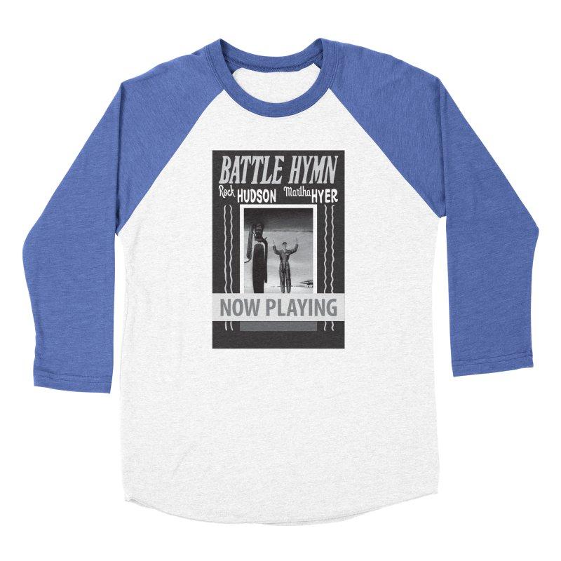 Battle Hymn Poster Replica Design Women's Baseball Triblend Longsleeve T-Shirt by Joe Abboreno's Artist Shop