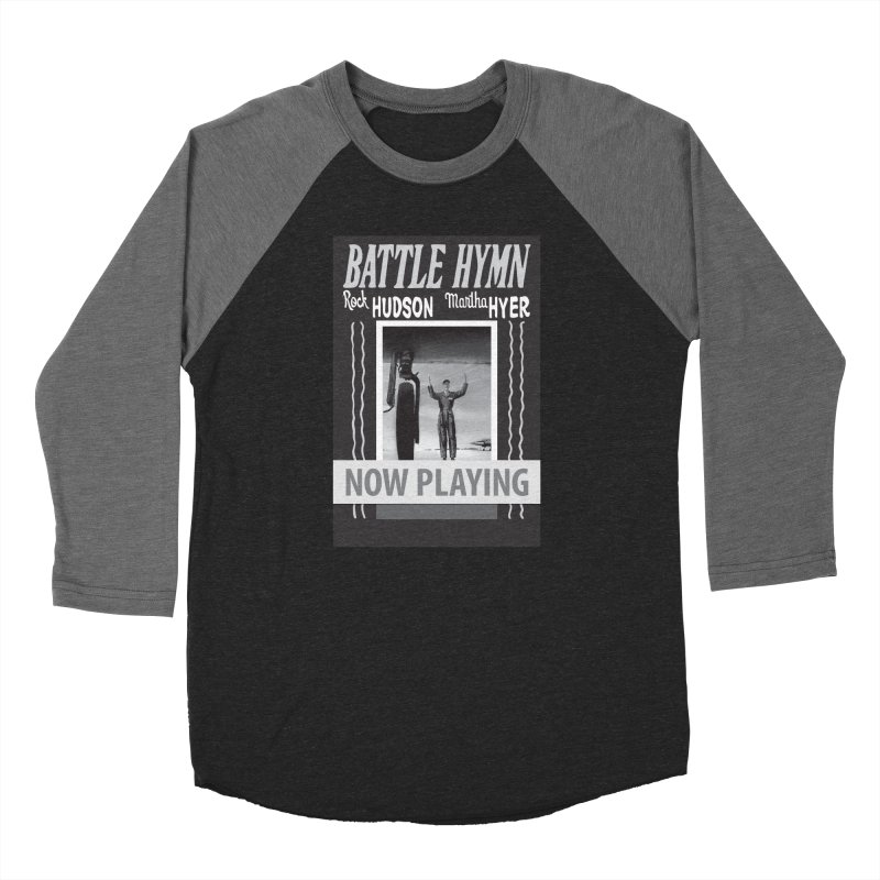 Battle Hymn Poster Replica Design Men's Baseball Triblend Longsleeve T-Shirt by Joe Abboreno's Artist Shop
