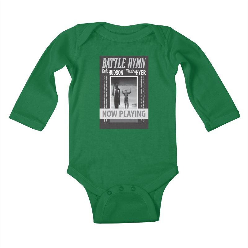Battle Hymn Poster Replica Design Kids Baby Longsleeve Bodysuit by Joe Abboreno's Artist Shop