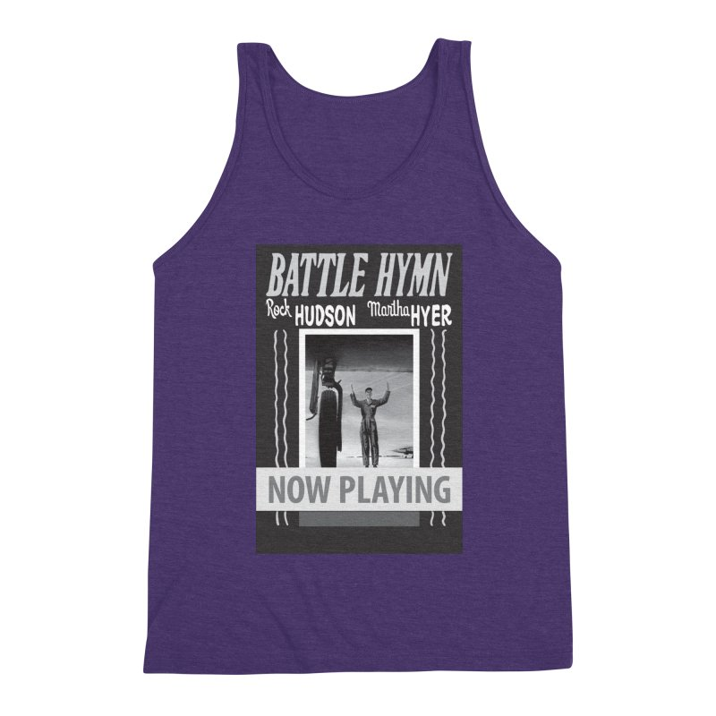 Battle Hymn Poster Replica Design Men's Triblend Tank by Joe Abboreno's Artist Shop