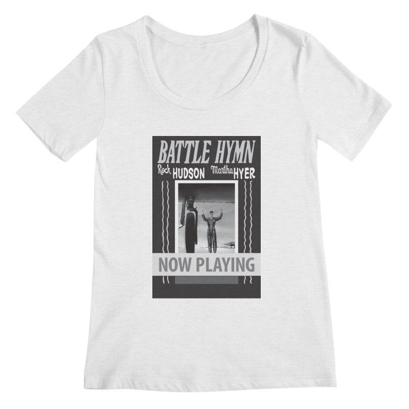 Battle Hymn Poster Replica Design Women's Regular Scoop Neck by Joe Abboreno's Artist Shop