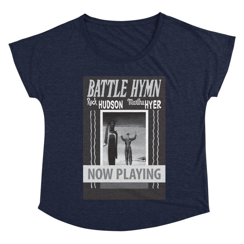 Battle Hymn Poster Replica Design Women's Dolman Scoop Neck by Joe Abboreno's Artist Shop