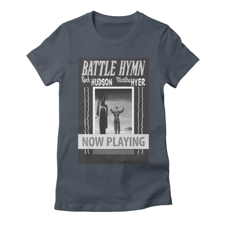 Battle Hymn Poster Replica Design Women's Fitted T-Shirt by Joe Abboreno's Artist Shop