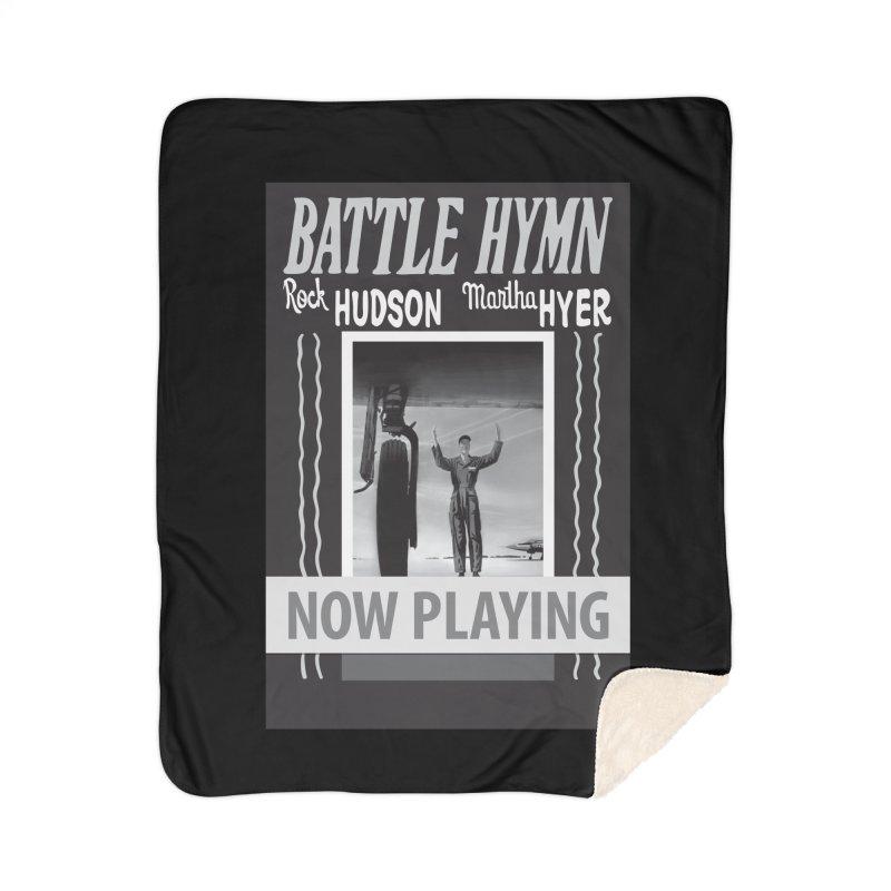 Battle Hymn Poster Replica Design Home Sherpa Blanket Blanket by Joe Abboreno's Artist Shop