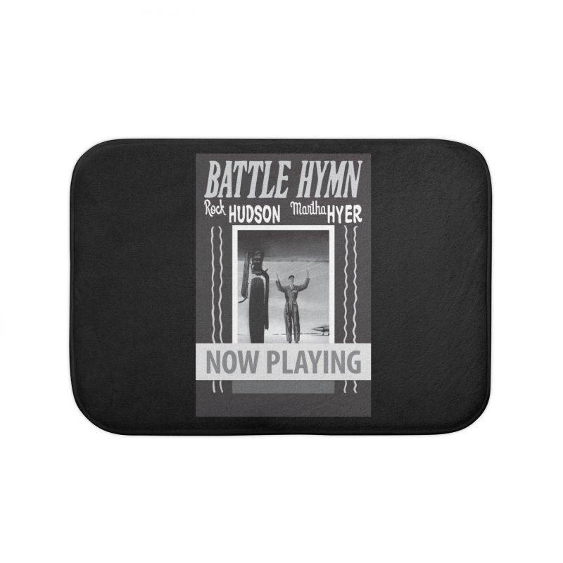 Battle Hymn Poster Replica Design Home Bath Mat by Joe Abboreno's Artist Shop