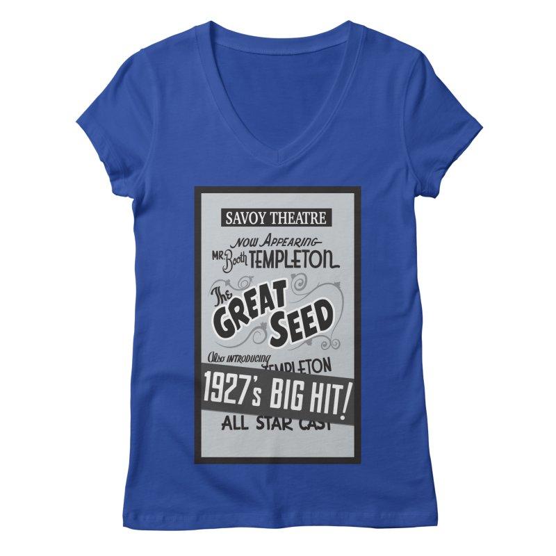 The Great Seed, Replica Poster Women's Regular V-Neck by Joe Abboreno's Artist Shop
