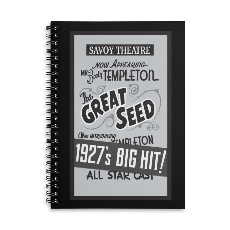 The Great Seed, Replica Poster Accessories Lined Spiral Notebook by Joe Abboreno's Artist Shop