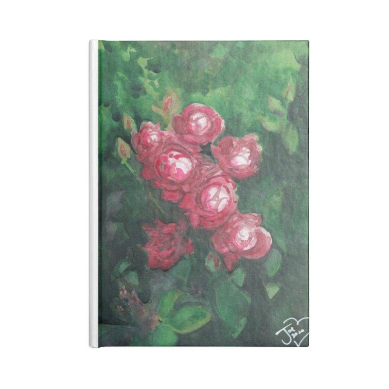 Roses Along the Walk Accessories Notebook by Joe Abboreno's Artist Shop