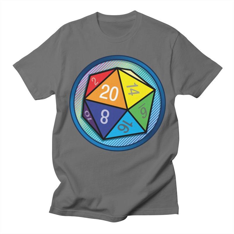 d20 Pride Men's T-Shirt by Joe Abboreno's Artist Shop