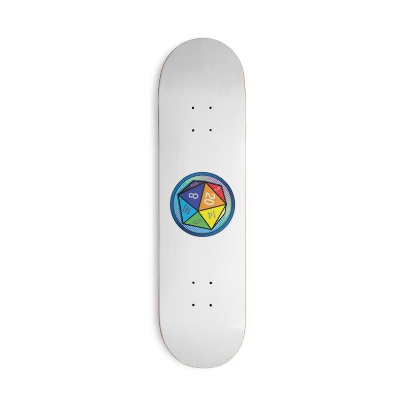 d20 Pride Accessories Skateboard by Joe Abboreno's Artist Shop