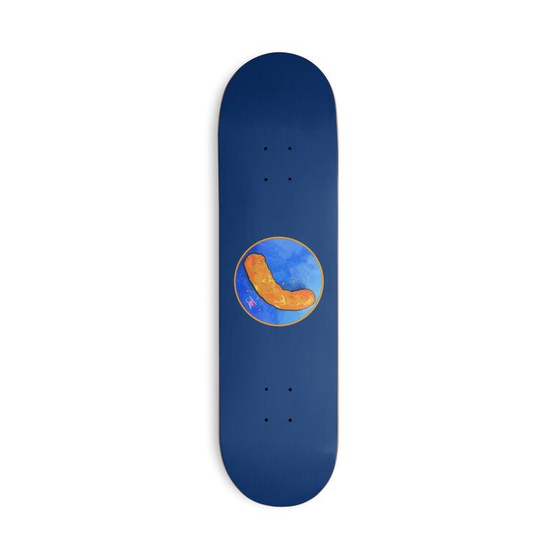 Cheese Puff Accessories Skateboard by Joe Abboreno's Artist Shop