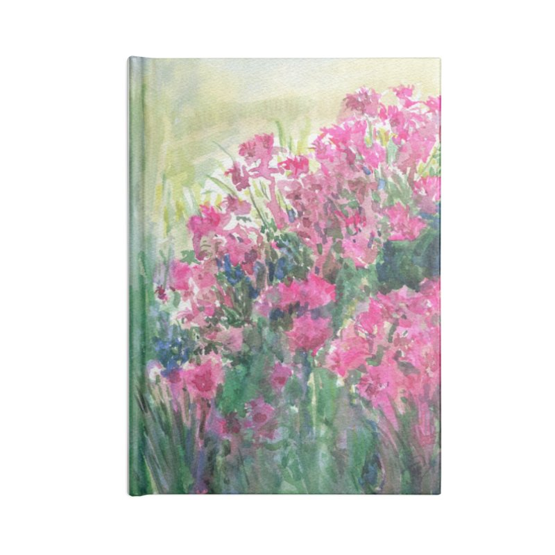 July Shines on the Bee Balm at Lindberg Park Accessories Notebook by Joe Abboreno's Artist Shop
