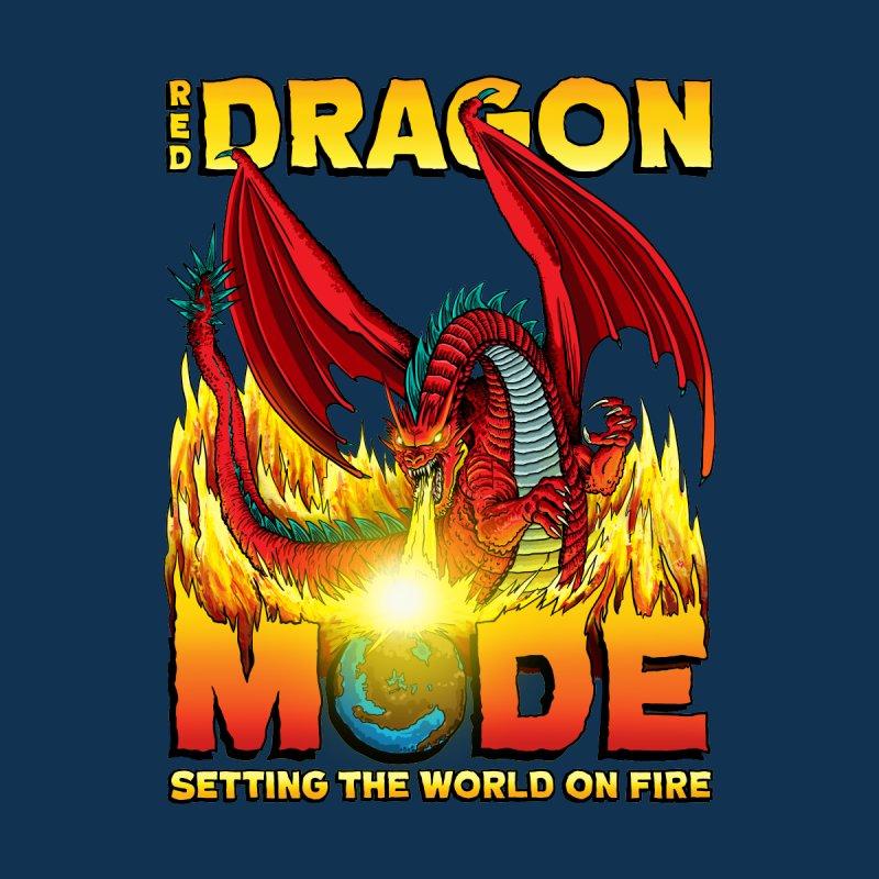 Red Dragon Mode Men's T-Shirt by Joe Abboreno's Artist Shop