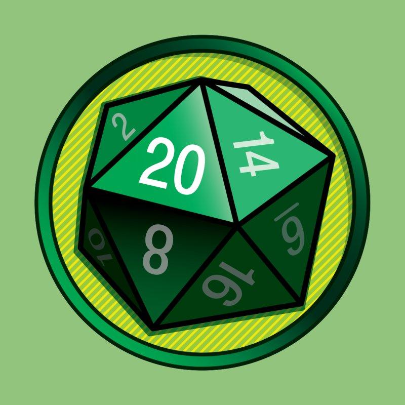 Good Luck Green d20 Men's T-Shirt by Joe Abboreno's Artist Shop