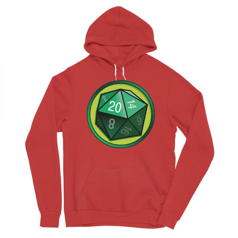 Good Luck Green d20 Men's Pullover Hoody by Joe Abboreno's Artist Shop
