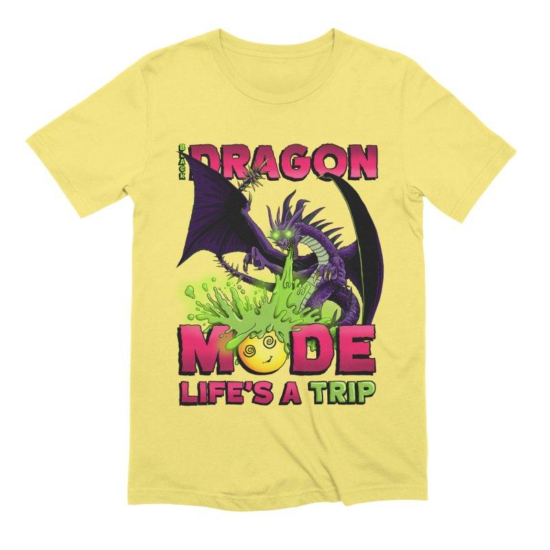 Black Dragon Mode Men's T-Shirt by Joe Abboreno's Artist Shop