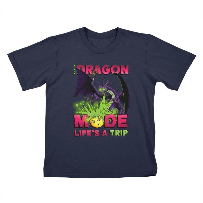 Black Dragon Mode Kids T-Shirt by Joe Abboreno's Artist Shop