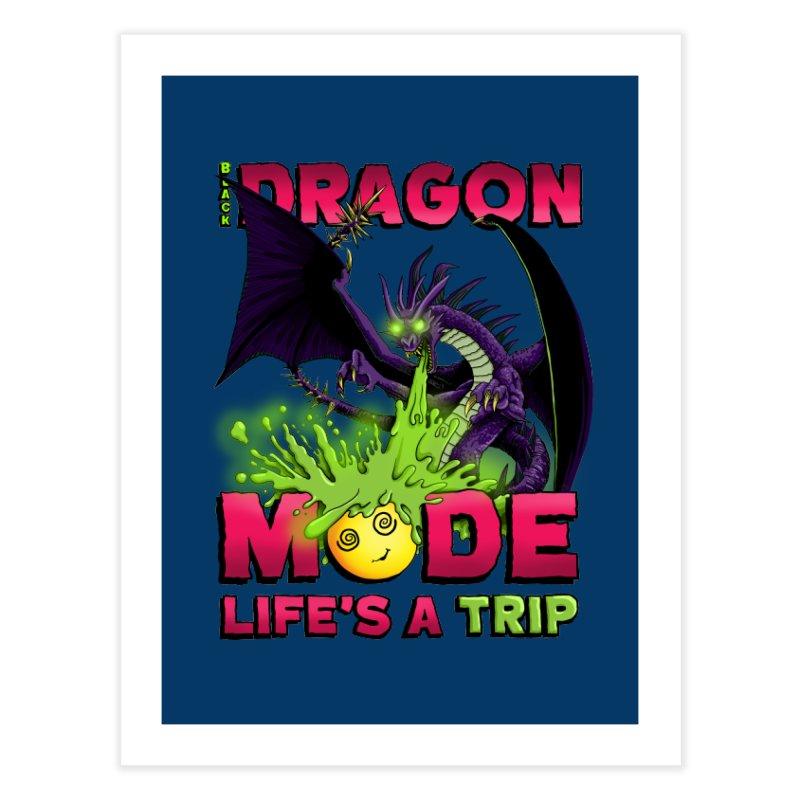 Black Dragon Mode Home Fine Art Print by Joe Abboreno's Artist Shop