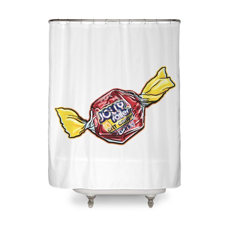 Cherry Jolly Roller Home Shower Curtain by Joe Abboreno's Artist Shop