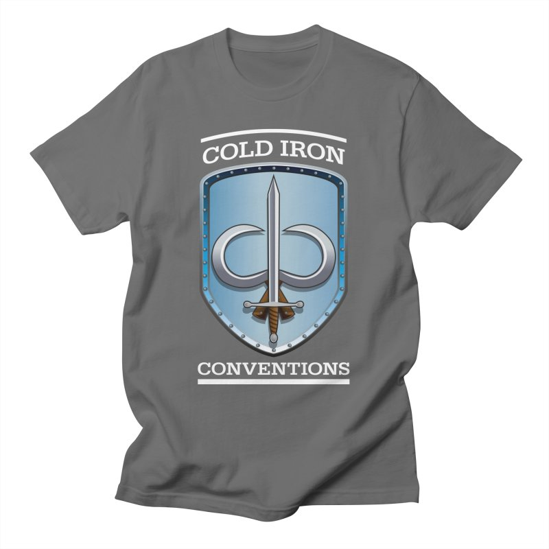 Cold Iron Conventions Logo for Dark backgrounds Men's T-Shirt by Joe Abboreno's Artist Shop