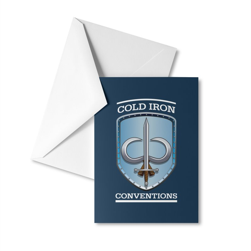 Cold Iron Conventions Logo for Dark backgrounds Accessories Greeting Card by Joe Abboreno's Artist Shop