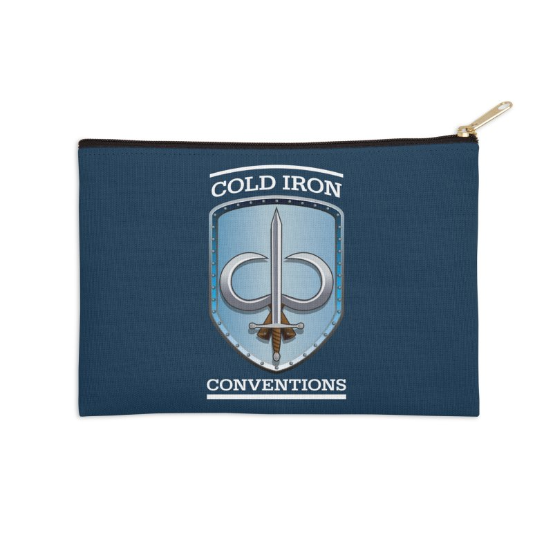 Cold Iron Conventions Logo for Dark backgrounds Accessories Zip Pouch by Joe Abboreno's Artist Shop
