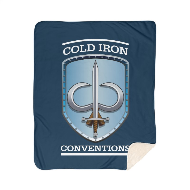 Cold Iron Conventions Logo for Dark backgrounds Home Blanket by Joe Abboreno's Artist Shop
