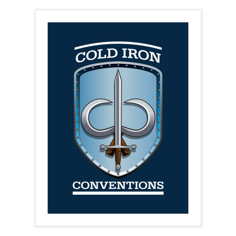 Cold Iron Conventions Logo for Dark backgrounds Home Fine Art Print by Joe Abboreno's Artist Shop