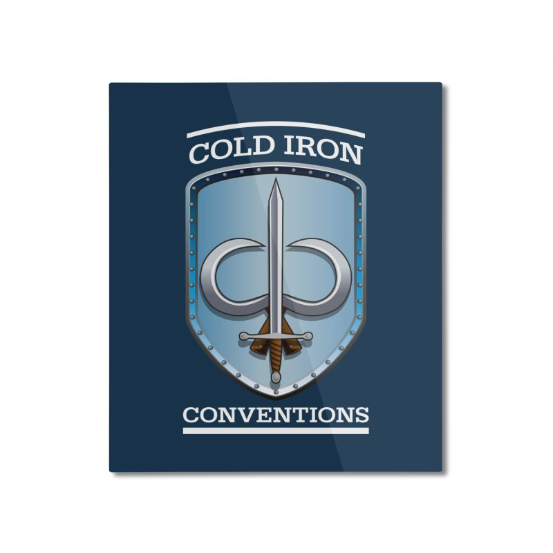 Cold Iron Conventions Logo for Dark backgrounds Home Mounted Aluminum Print by Joe Abboreno's Artist Shop