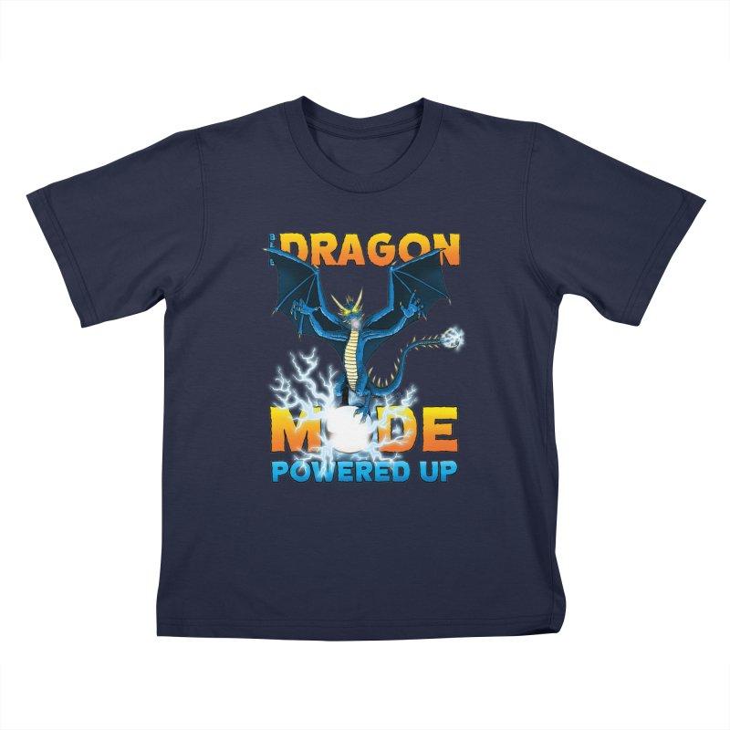 Blue Dragon Mode Kids T-Shirt by Joe Abboreno's Artist Shop