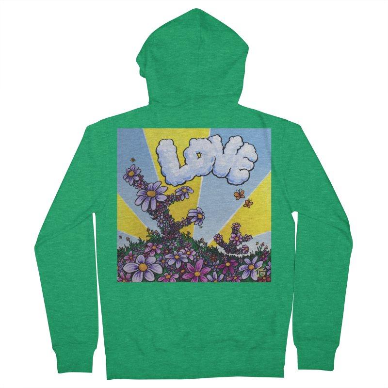 LOVE Men's Zip-Up Hoody by Joe Abboreno's Artist Shop