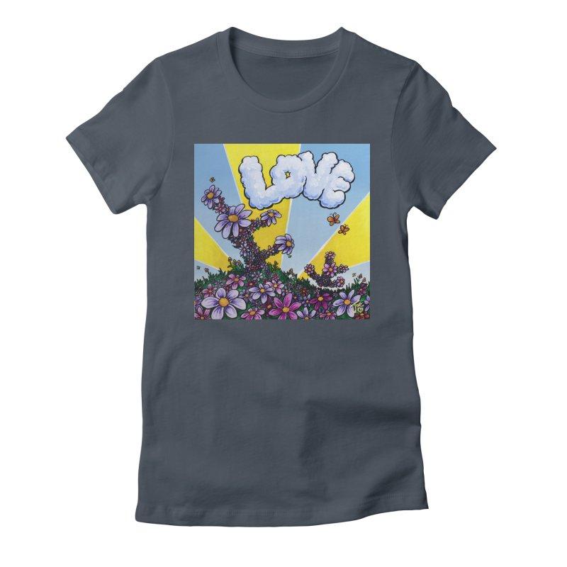 LOVE Women's T-Shirt by Joe Abboreno's Artist Shop
