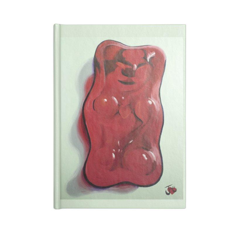 Big Red Gummy Number 1 Accessories Notebook by Joe Abboreno's Artist Shop