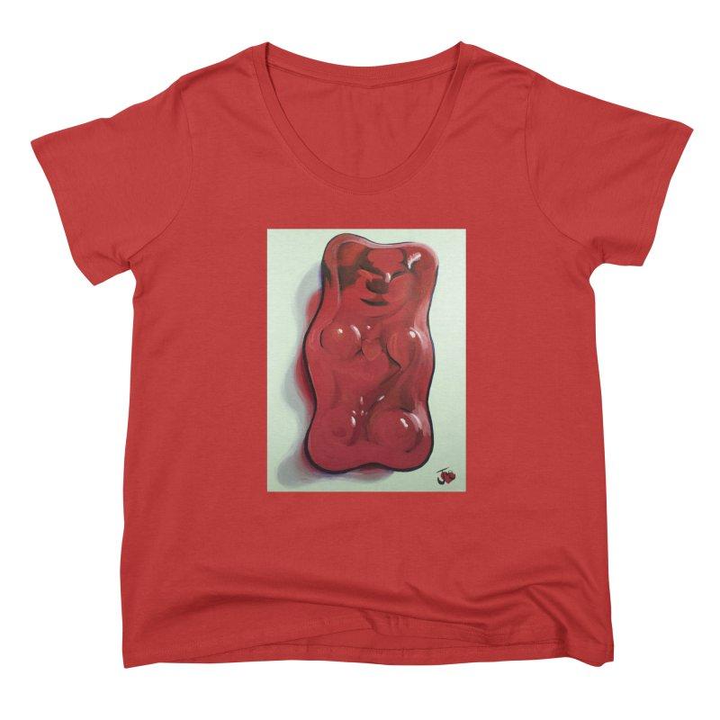Big Red Gummy Number 1 Women's Scoop Neck by Joe Abboreno's Artist Shop