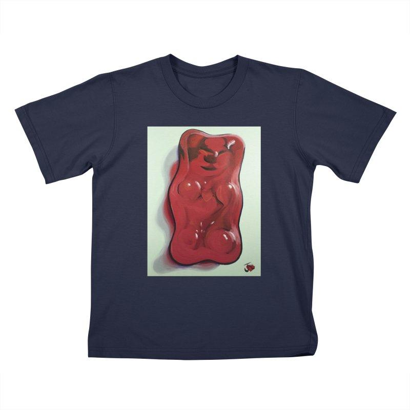 Big Red Gummy Number 1 Kids T-Shirt by Joe Abboreno's Artist Shop