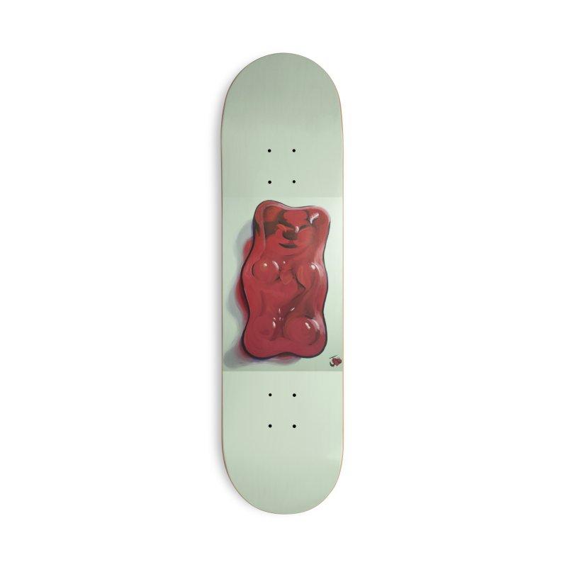 Big Red Gummy Number 1 Accessories Skateboard by Joe Abboreno's Artist Shop