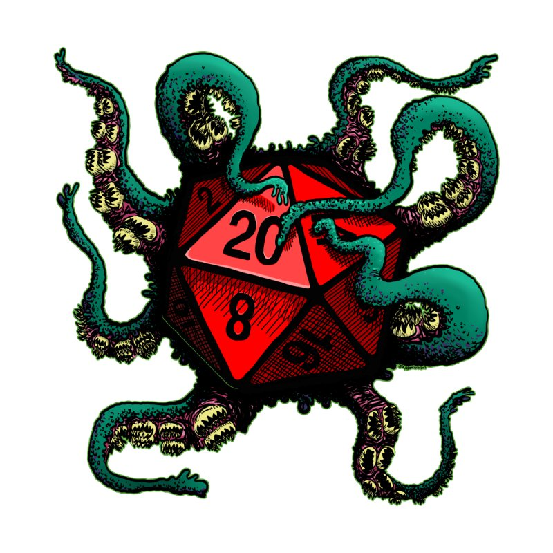 Tentacle d20 Men's T-Shirt by Joe Abboreno's Artist Shop