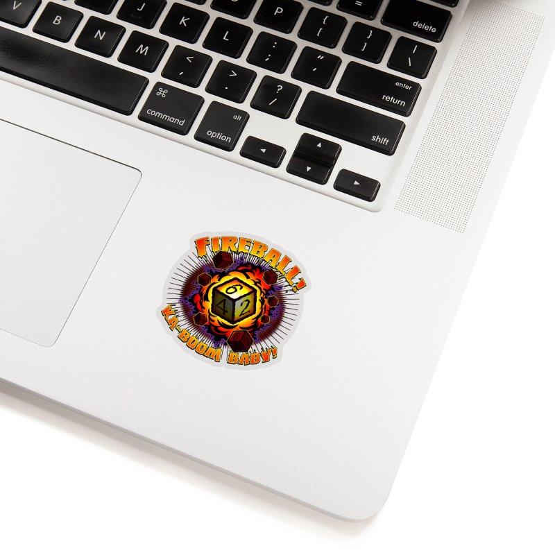 Fireball! Ka-Boom Baby! Accessories Sticker by Joe Abboreno's Artist Shop