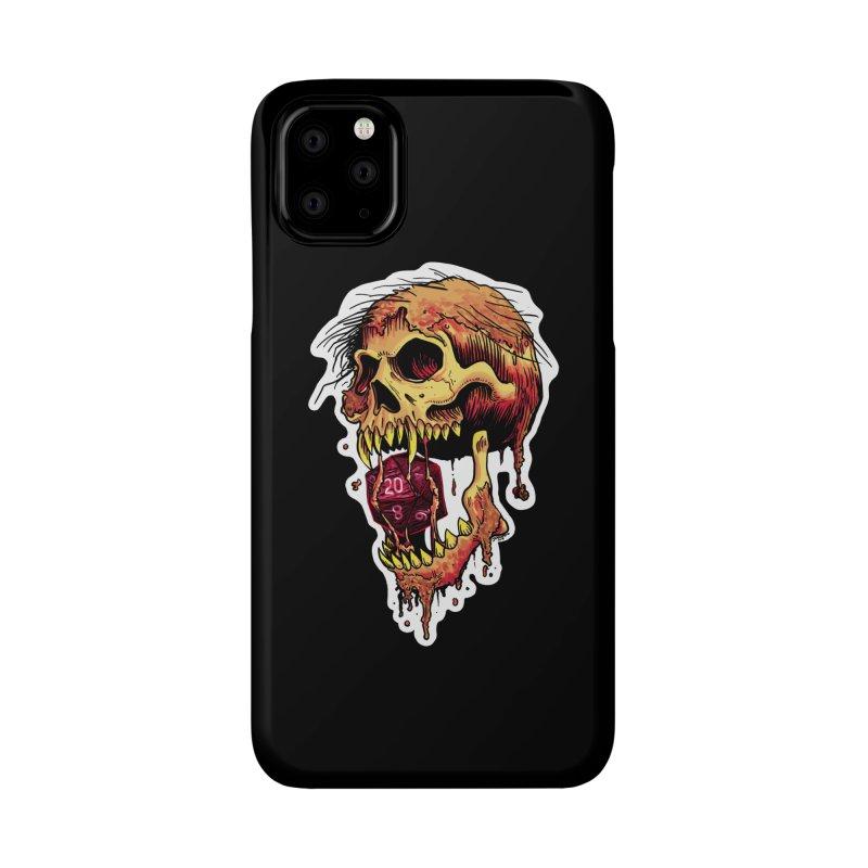 d20 Demon Skull Accessories Phone Case by Joe Abboreno's Artist Shop