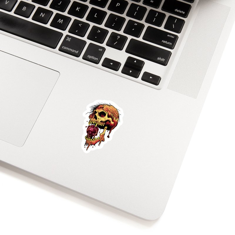 d20 Demon Skull Accessories Sticker by Joe Abboreno's Artist Shop
