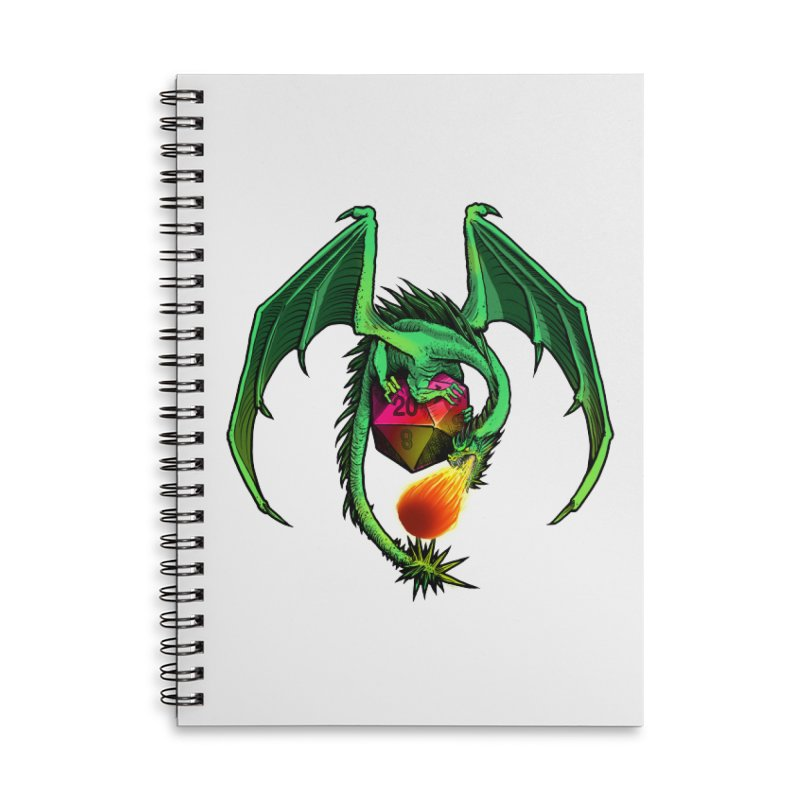 Dragon d20 Accessories Lined Spiral Notebook by Joe Abboreno's Artist Shop