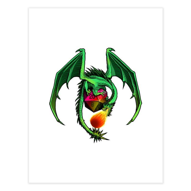 Dragon d20 Home Fine Art Print by Joe Abboreno's Artist Shop